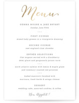 Modern Photo Frame Foil-Pressed Menus