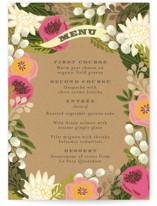 Floral Canopy Foil-Pressed Menus