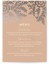 Leaves and Kraft Foil-Pressed Menus