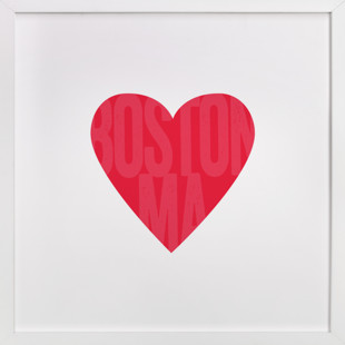 Heart Boston  Art Print