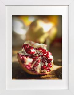 Fresh Picked Pomegranate  Art Print