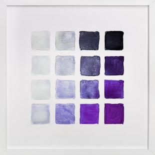 Shades of Grape  Art Print