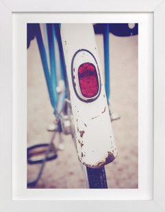 Vintage Bike Back  Art Print