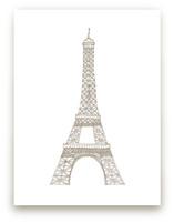 Eiffel Tower in Pen Wall Art Prints