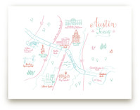 Austin, Texas Calligraphy Map