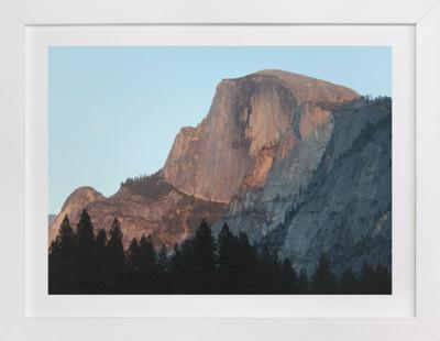 Half Dome Alpenglow  Art Print