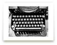 Orga Privat Typewriter by Three Kisses Studio
