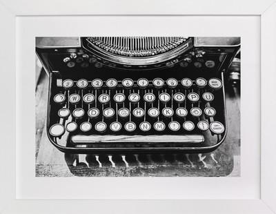 Orga Privat Typewriter  Art Print