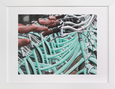 Bicycle Row  Art Print