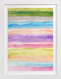 painted abstract  Art Print