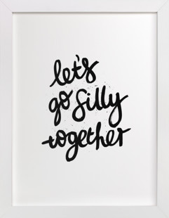 silly together  Art Print