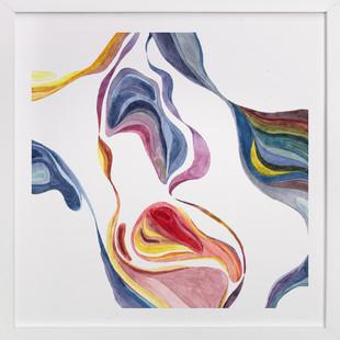 Flow in colors  Art Print