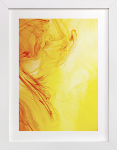 Orange into Yellow  Art Print