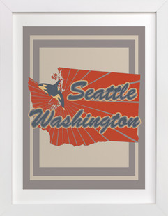 Seattle, Washington  Art Print