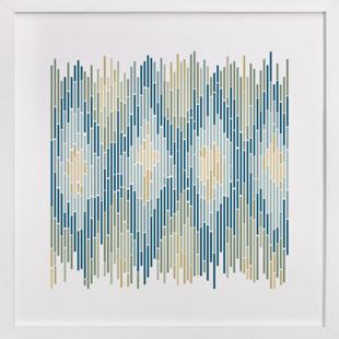 Mosaic Ikat  Art Print