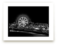 the pier at NIGHT by Gail Schechter