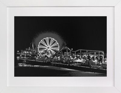 the pier at NIGHT  Art Print