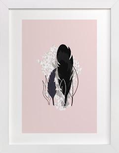 Dark Plumes  Art Print