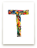 Collage letter T by Kiana Lee