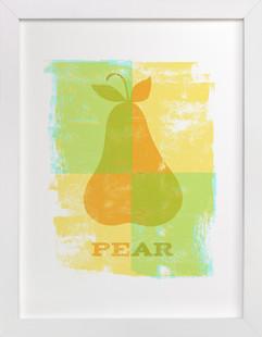 Colorful Pear  Art Print