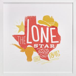 The Lone Star State  Art Print