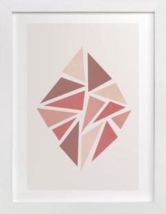 Shattered Series Diamond  Art Print