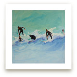 Surf boys at Sunset by Annie Seaton