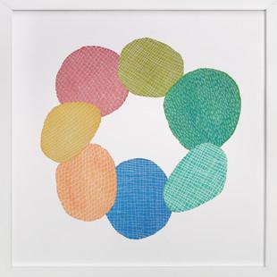 Circle of Happiness  Art Print
