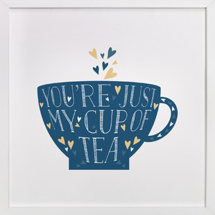 Lettered Cup Of Tea  Art Print