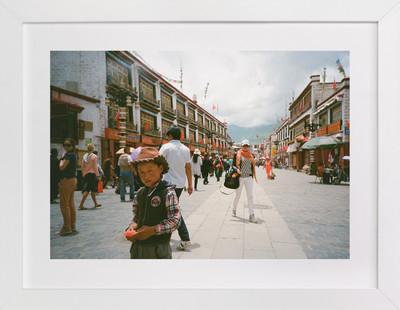 The Tibetan Cowboy  Art Print