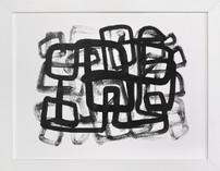 Inky Maze #2 Art Print