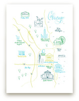 Chicago Calligraphy Map