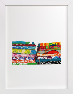 Fabric Stack 1  Art Print