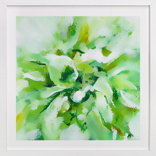 White Dahlia  Art Print