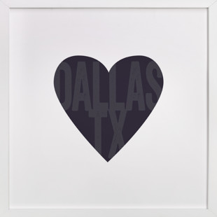 Heart Dallas  Art Print