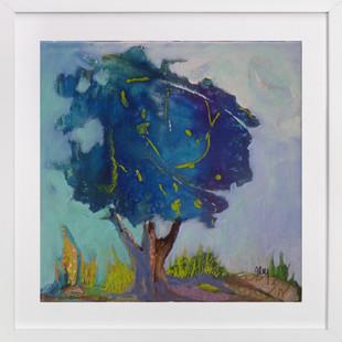 Son arbre bleu  Art Print