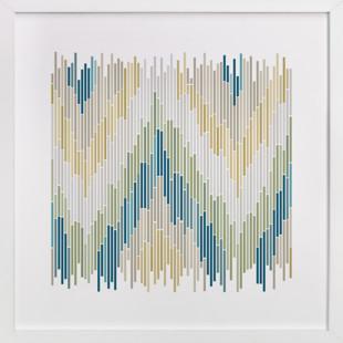 Mosaic Chevron  Art Print