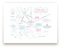 Washington, DC Calligraphy Map