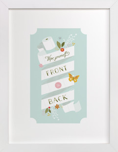 Front to Back  Art Print