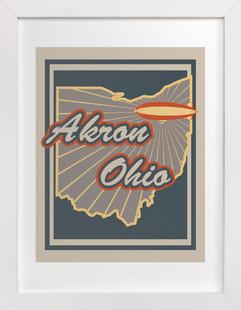 Akron, Ohio  Art Print