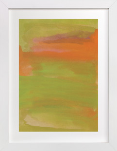 abstract painting green  Art Print