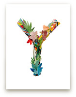 Collage letter Y by Kiana Lee