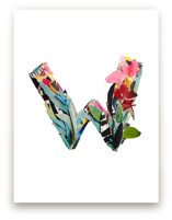 Collage letter W by Kiana Lee