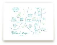 Portland, Oregon Calligraphy Map