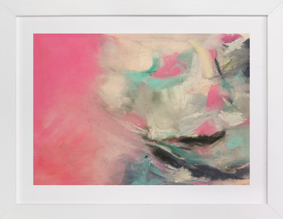 Warm Is Winning Abstract Pastel Drawing  Art Print