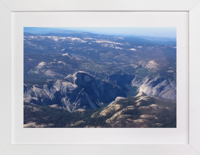 Yosemite Valley from 14,000 Feet  Art Print
