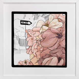 Streetside Cherry Blossoms  Art Print