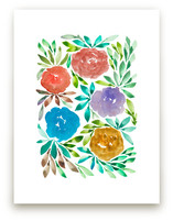 hand painted flowers_1I by aticnomar