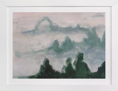 Misty Mounts  Art Print