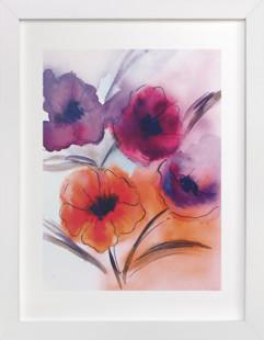 Cheerful Poppies  Art Print